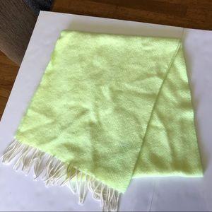 J. Crew | Neon Yellow Fringe Long Mohair Wool